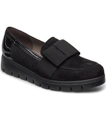 trotteur loafers låga skor svart gabor
