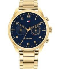 tommy hilfiger men's gold-tone bracelet watch 44mm