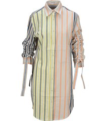 jw anderson striped shirt-style dress