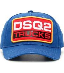 dsquared2 trucks logo patch baseball cap