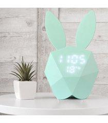 reloj digital/despertador/ nuevo sonido led termómetro luz-