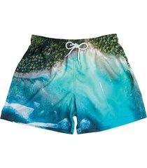 shorts curto estampado praia 614 mash
