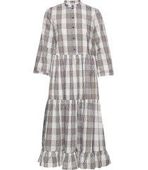 alexine jurk knielengte multi/patroon baum und pferdgarten