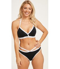 back to black soft triangle bikini top