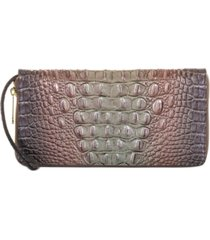 brahmin melbourne embossed leather skyler wristlet