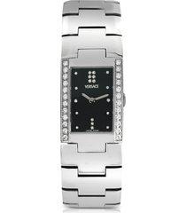 versace designer women's watches, greca - ladies' stainless steel and diamond watch