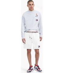 tommy hilfiger women's space jam: a new legacy x tommy jeans sweatshort white - xs