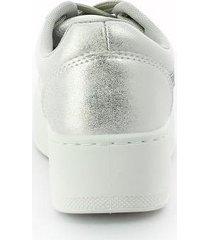 tenis para mujer marca moleca color plata via spring - plateado