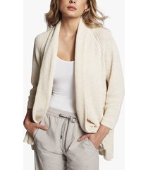 cotton linen buttonless cardigan