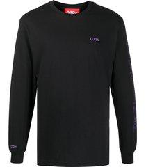 032c slogan-print long-sleeved t-shirt - black