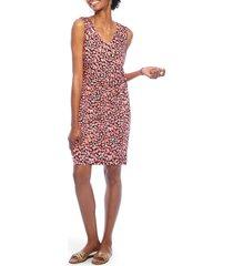 women's nic+zoe balm twist sleeveless dress, size xx-large - pink