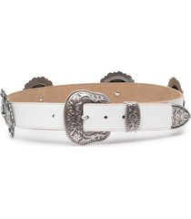 jessie western star concho-embellished belt - white