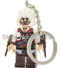 sa 1 pc firenze assassin's creed keychain single sale key chain minifigure block