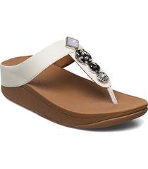 fino circle toe-thongs flip flops sandaler vit fitflop