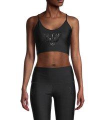 electric yoga women's panther sports bra - hot pink - size xs