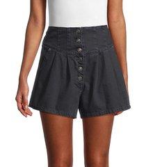 free people women's paris pleated shorts - macaroon - size 26 (2-4)