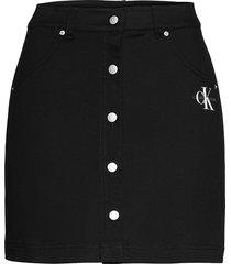 cotton twill mini skirt kort kjol svart calvin klein jeans