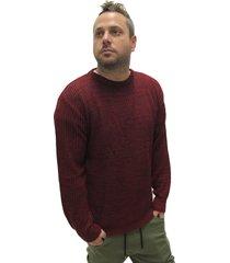 sweater bordó desigual