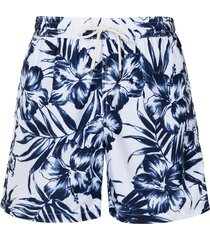 polo ralph lauren hibiscus-print swim shorts - blue