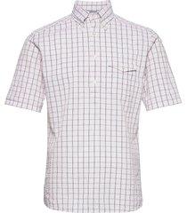 casual fit casual poplin shirt overhemd met korte mouwen wit eton