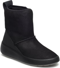ukiuk shoes boots ankle boots ankle boots flat heel svart ecco