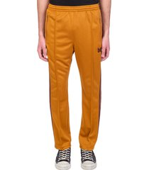 needles pants in yellow polyester