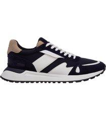 scarpe sneakers uomo in pelle miles