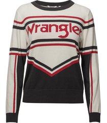 cheer knit shirt stickad tröja multi/mönstrad wrangler