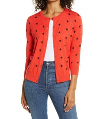 women's 1901 cotton blend cardigan, size x-large - red