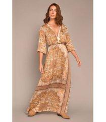 vestido largo estampado paisley