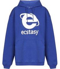 vetements ectasy oversized hoodie fleece