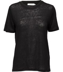 agnes tee 6680 t-shirts & tops short-sleeved svart samsøe & samsøe