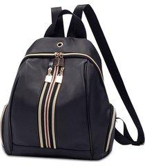 mochila de viaje zipper mini oxford para mujer-negro