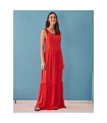 amaro feminino saída de praia vestido amarração, vermelho