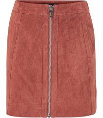 mockakjol vmsana zip suede short skirt