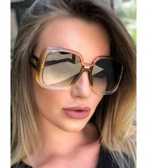 square hollow temple gradient sunglasses