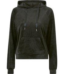 sweatshirt cecilia velour sweater