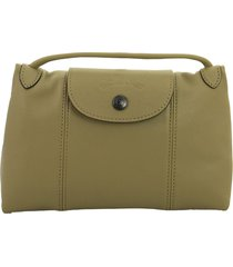 longchamp le pliage cuir crossbody bag khaki