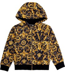 young versace cotton full zip hoodie