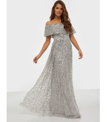 maya bardot maxi dress all over sequin maxiklänningar