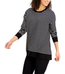 alfani striped pajama top, created for macy's