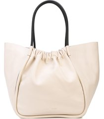proenza schouler xl ruched tote - white
