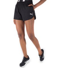 shorts puma active ess woven - feminino - preto