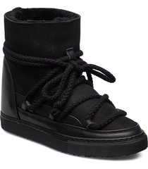 women sneaker classic wedge shoes boots ankle boots ankle boot - flat svart inuikii