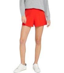 alice + olivia women's hera high-waist seamed shorts - cherry red - size 10