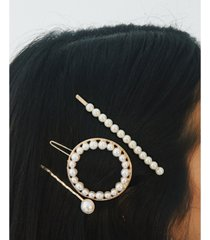8 other reasons 3-pc. pearl hair clip set