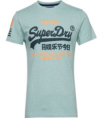 premium goods duo tee t-shirts short-sleeved grön superdry