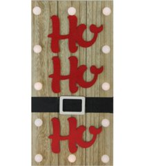 "northlight 15.75"" pre-lit led brown and red ""ho ho ho"" santa belt battery operated wall decor"