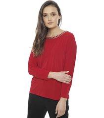 blusa calvin klein dolman  rojo - calce regular