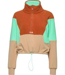women walta half-zip fleece shirt sweat-shirt tröja multi/mönstrad fila